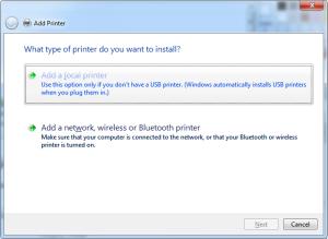 addlocalprinter